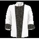 Custom Printed Chef's Coat Jacket - Chef Tools - Black White