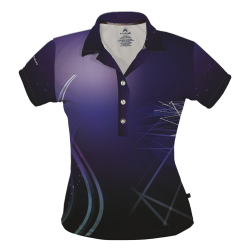 Women's Dry Fit Polo, Abstract Lines