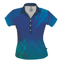 Polo Dry Fit de Mujer, Constraste