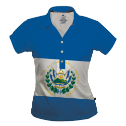 Polo Dry Fit de Mujer, Bandera.