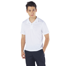 Polo shirt with inserts on the sides