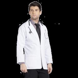 Men's Medical Coat, Long Above Knee, 3 Pockets