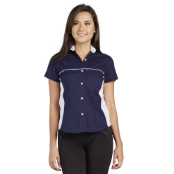 Oxford Blouse with Inserts on the Sides