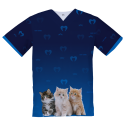 Personalized Medical Top, Kitten and Mom