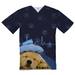 Personalized Medical Top, Puppy