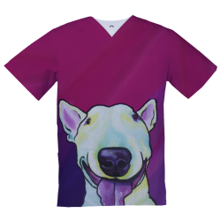 Personalized Medical Top, happy Pitbul