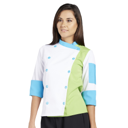 custom chefs coat jacket green personalize