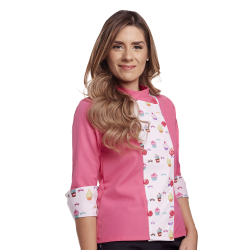 Printed Chef's Coat - Pink & Cupcakes